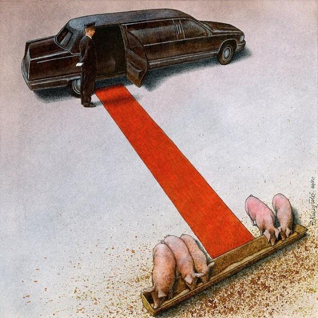 кормушка - та же, меняются лишь свиные рыла